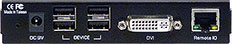 DX100 receiver back panel